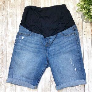 ISABEL MATERNITY Jean Bermuda Shorts
